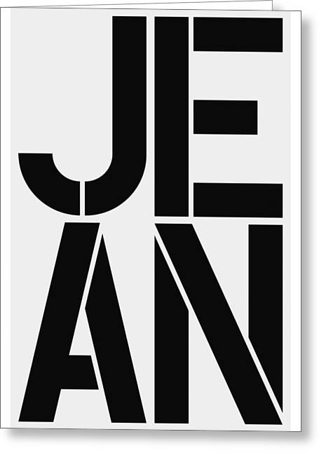 Jean Greeting Card by Three Dots