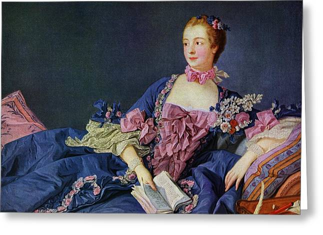 Jeanne Antoinette Poisson, Marquise De Greeting Card by Vintage Design Pics