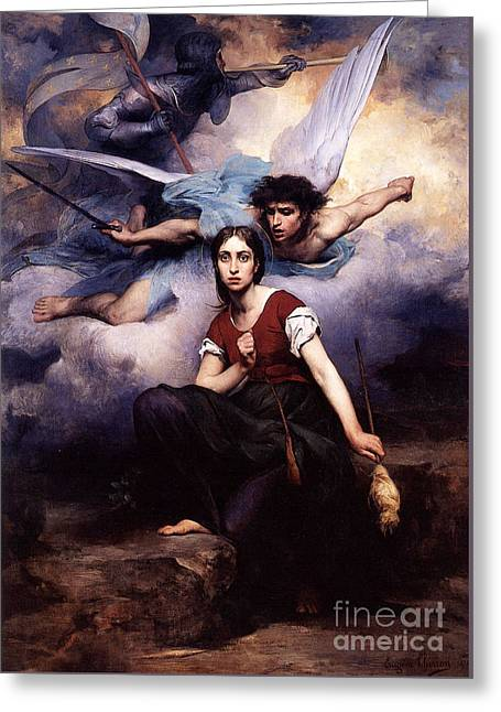 Jeanne D Arc Greeting Card by MotionAge Designs