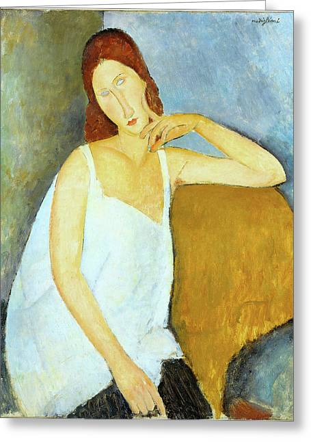 Jeanne Hebuterne Amedeo Modigliani 1919 Greeting Card by Movie Poster Prints