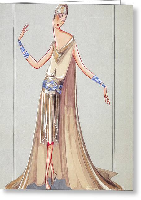 Jeanne Lanvin Design, 1927 Greeting Card by Science Source