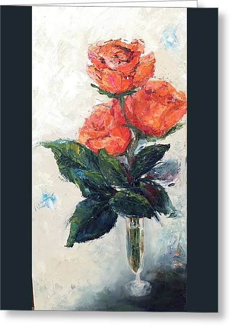 Jeannie's Roses Greeting Card