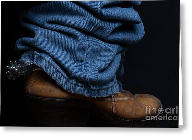 Jeans And Cowboy Boots Greeting Card