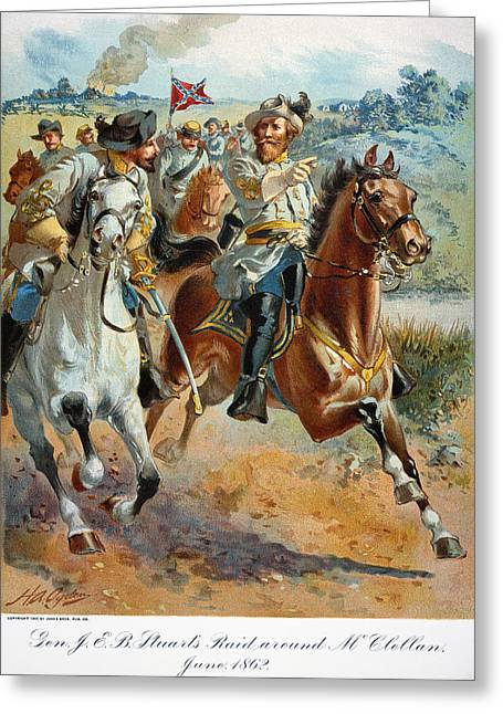 Invade Greeting Cards - Jeb Stuarts Cavalry 1862 Greeting Card by Granger