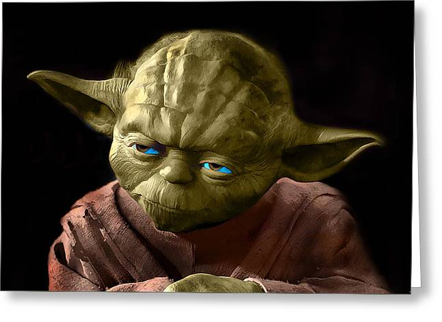 Jedi Yoda Greeting Card