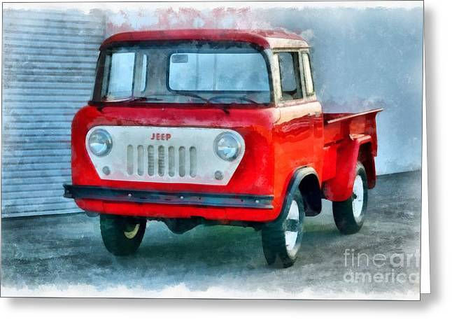 Jeep 1959 Fc150 Forward Control Pickup Greeting Card by Edward Fielding