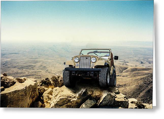 Jeep On A Mountain Greeting Card