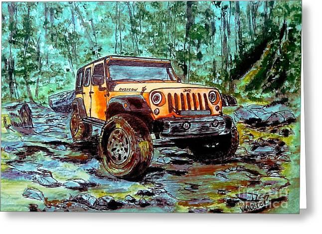 Jeep Rubicon Watercolor Greeting Card