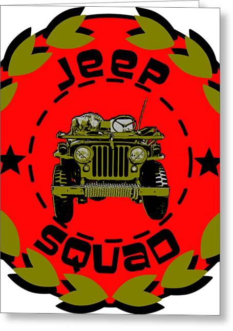 Jeep Squad Greeting Card