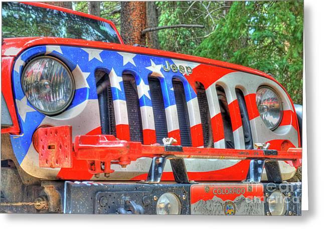 Jeep Usa Greeting Card