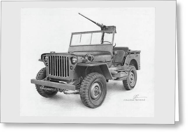 Jeep Willys Greeting Card by Christopher Bracken