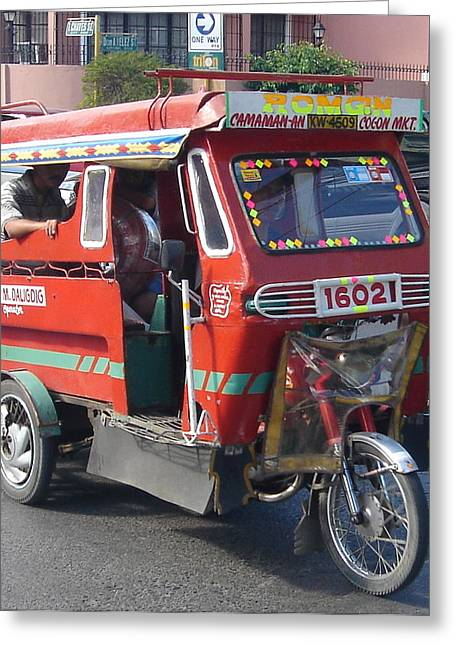 Jeepney 05 Greeting Card by Mike Holloway