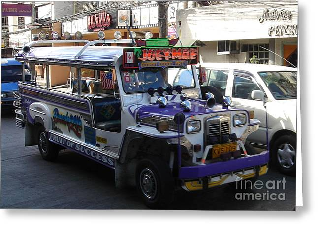 Jeepney 06 Greeting Card by Mike Holloway