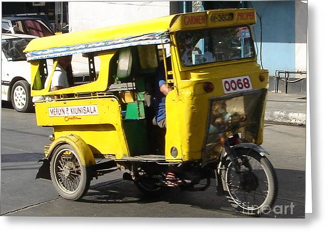 Jeepney 07 Greeting Card by Mike Holloway