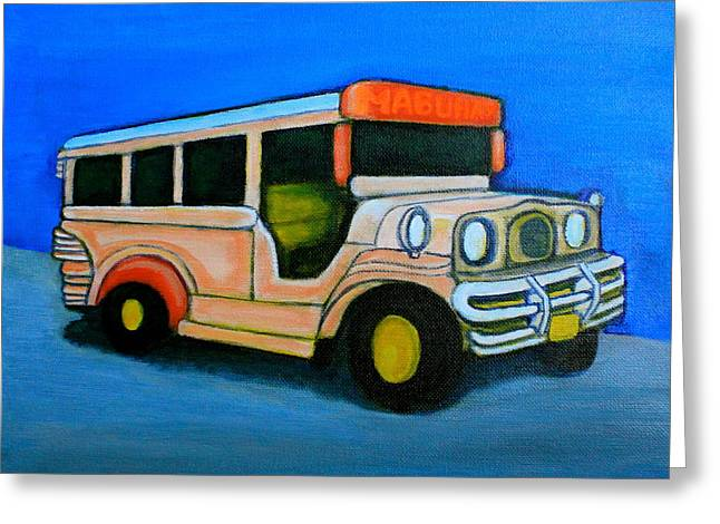 Jeepney Greeting Card