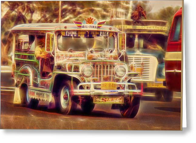 Jeepney Manila Greeting Card by David French