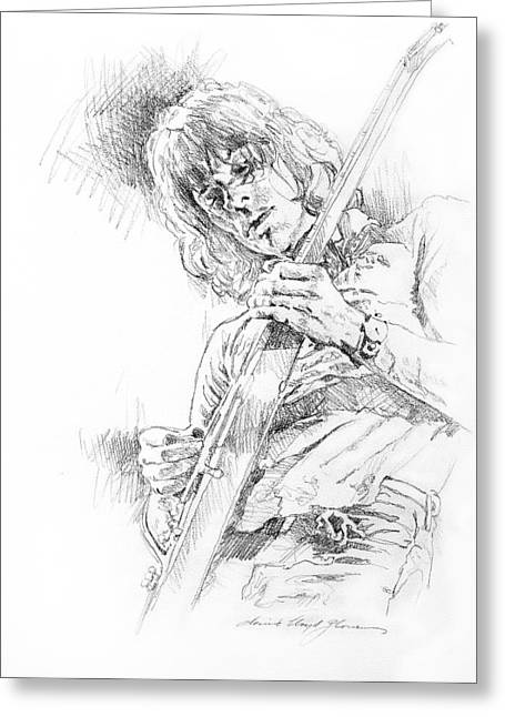 Jeff Beck - Truth Greeting Card by David Lloyd Glover