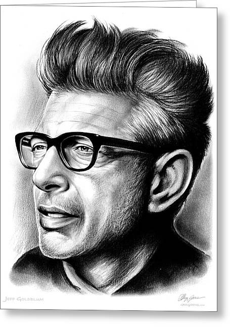 Jeff Goldblum Greeting Card by Greg Joens