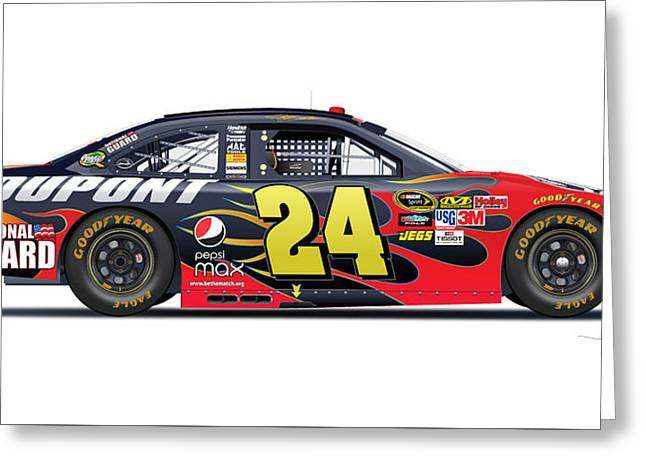 Jeff Gordon Nascar Image Greeting Card by Alain Jamar