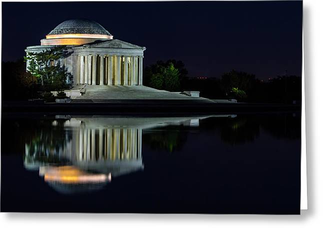 The Jefferson At Night Greeting Card