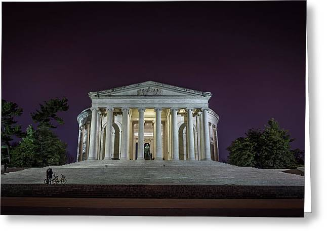Jefferson At Night Greeting Card