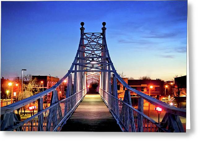 Jefferson Avenue Footbridge Greeting Card by Ryan Burton