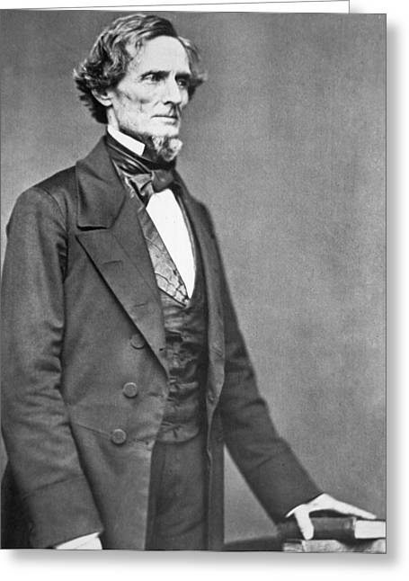President Of America Photographs Greeting Cards - Jefferson Davis Greeting Card by American Photographer