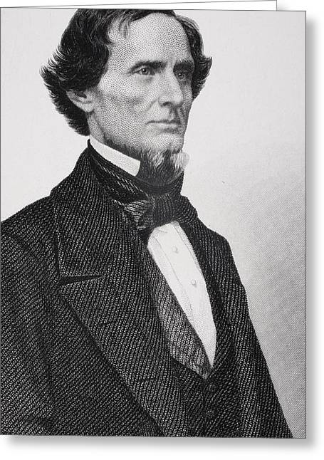 Jefferson Davis Greeting Card by Matthew Brady