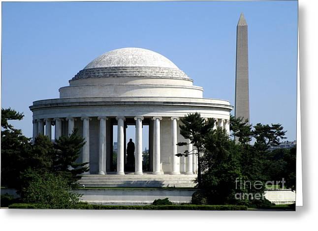 Jefferson Memorial 2 Greeting Card