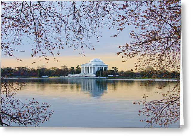 Jefferson Memorial In Spring Greeting Card by Bill Cannon