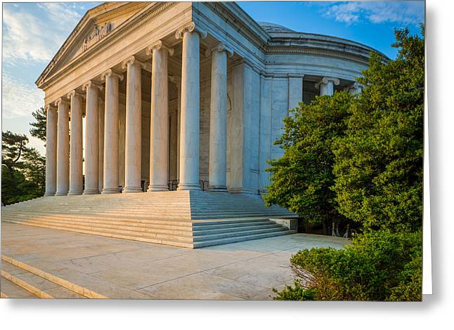 Jefferson Memorial Panorama Greeting Card by Inge Johnsson