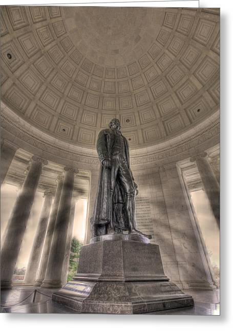 Jefferson Memorial Greeting Card by Shelley Neff