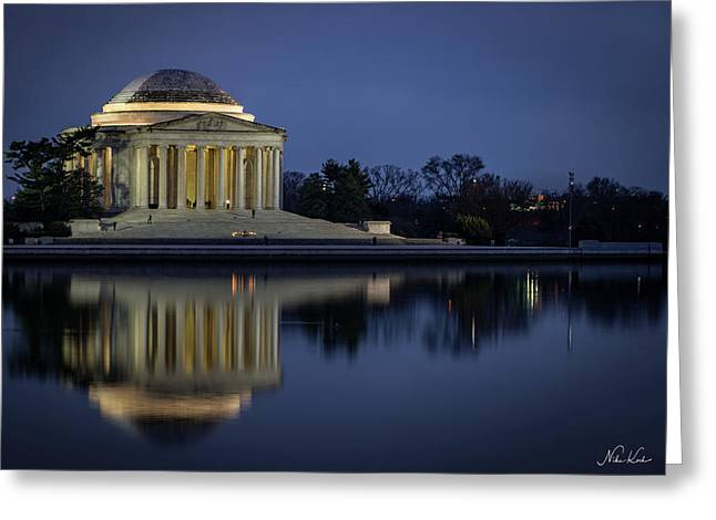 Jefferson Reflecting Greeting Card