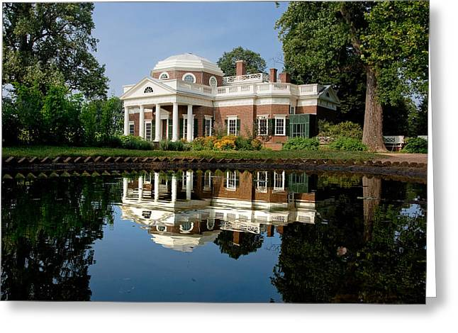 Jefferson Reflects Greeting Card by Mark Currier