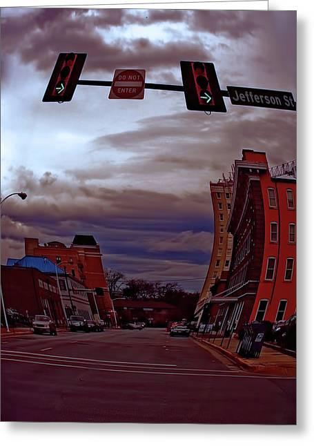Jefferson Street Huntsville Alabama Greeting Card