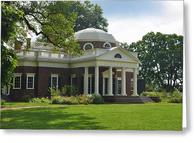Jeffersons Monticello Greeting Card by Bill Cannon