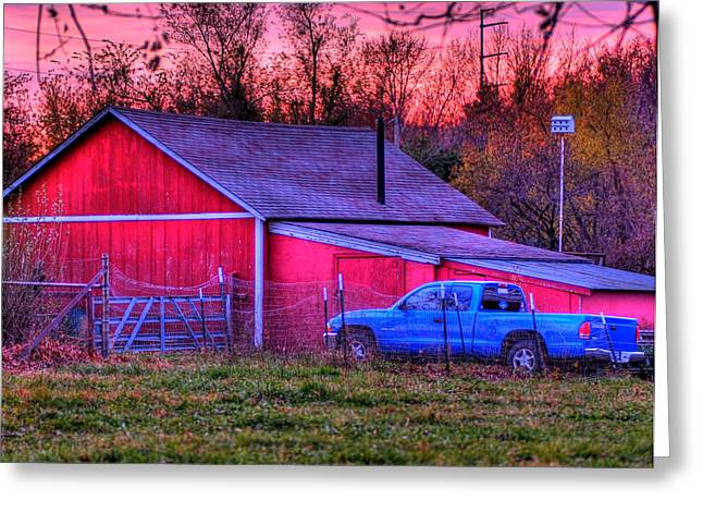 Jeff's Barn Greeting Card by Don Wolf