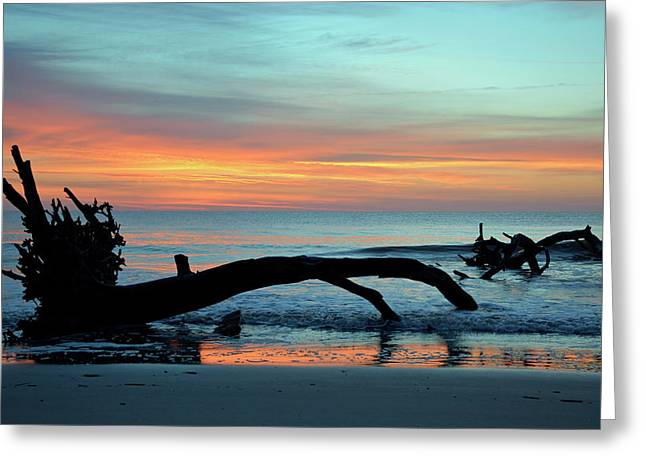 Greeting Card featuring the photograph Jekyll Island Sunrise 2016a by Bruce Gourley