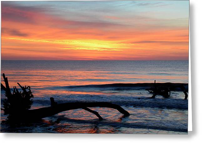 Greeting Card featuring the photograph Jekyll Island Sunrise 2016b by Bruce Gourley