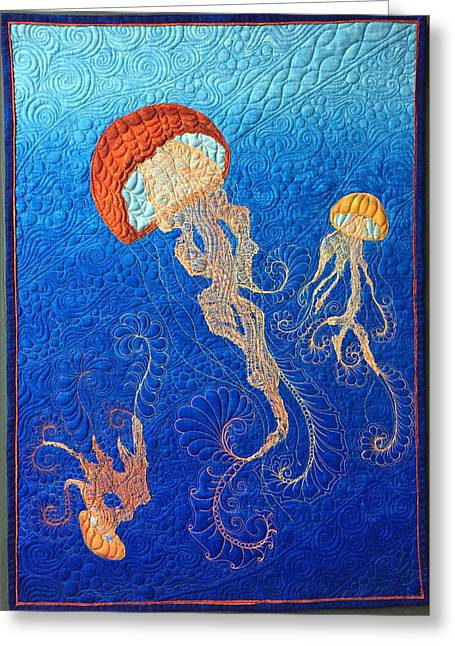 Jellies Of The Sea Greeting Card