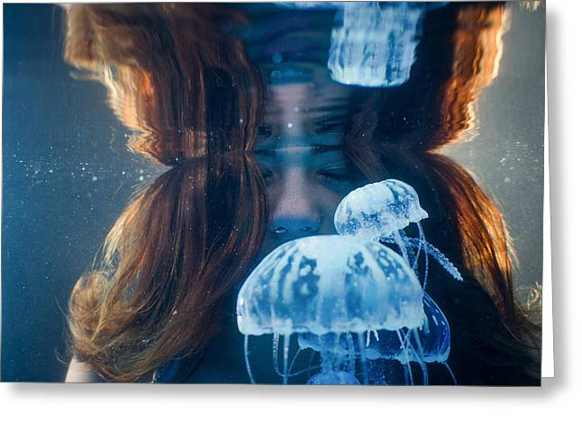 Jellies Reflection Greeting Card
