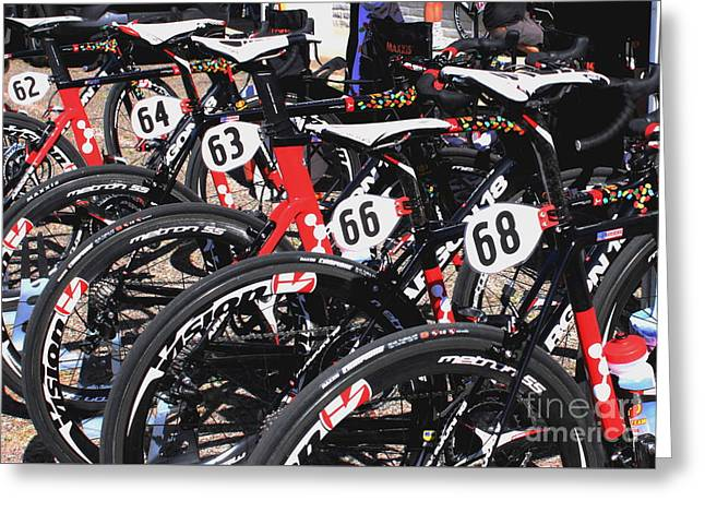Jelly Belly Pro Racer Bikes Greeting Card