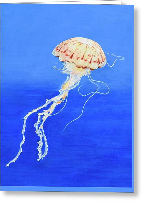 Jellyfish Greeting Card by Biophilic Art