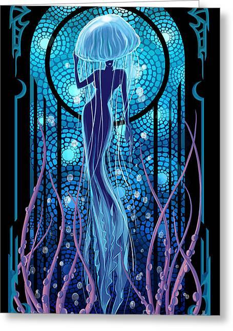 Jellyfish Mermaid Greeting Card