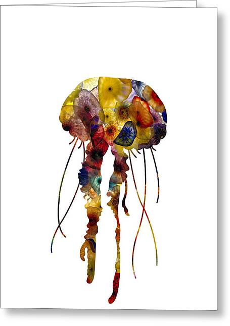 Greeting Card featuring the photograph Jellyfish by Michael Colgate