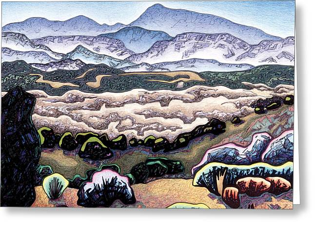 Jemez Mountains Greeting Card by Dale Beckman
