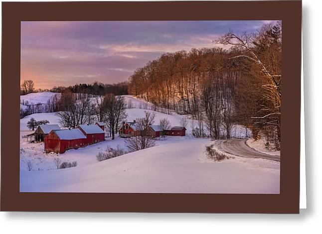 Jenne Farm Winter Scenic Greeting Card by Thomas Schoeller