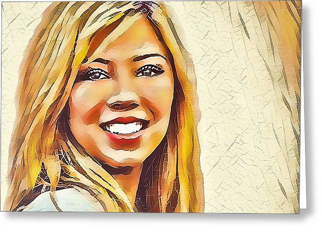 Jennette Greeting Card by Robert Radmore