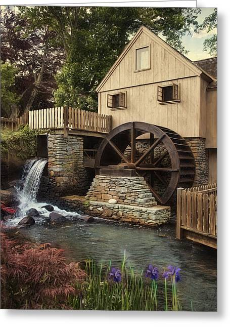 Jenney Grist Mill Greeting Card by Robin-Lee Vieira
