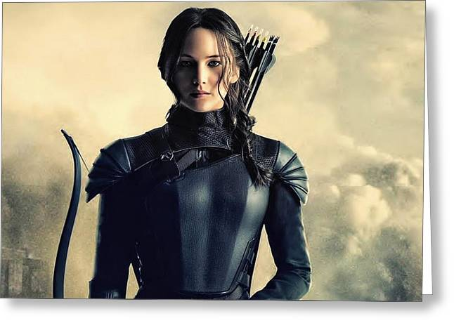 Jennifer Lawrence The Hunger Games  2012 Publicity Photo Greeting Card